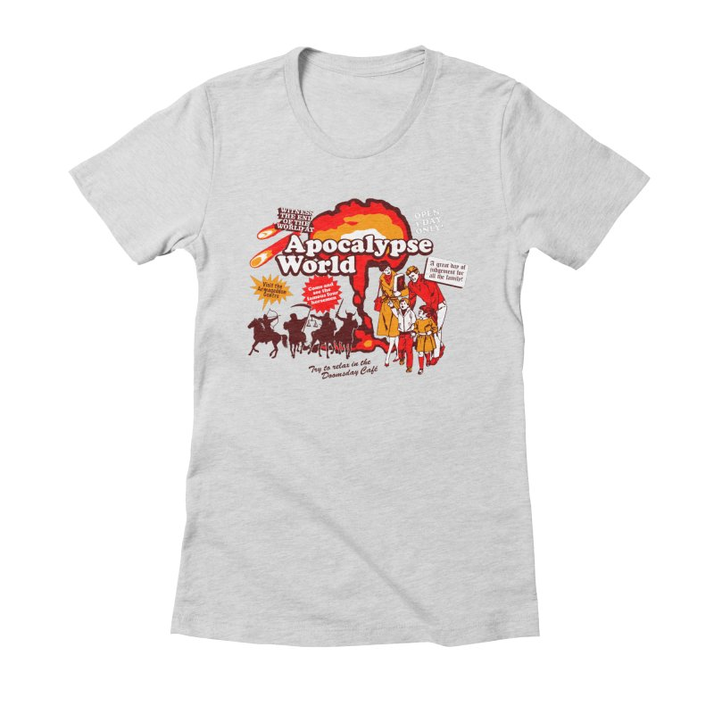 Apocalypse World Women's Fitted T-Shirt by Graham Dobson