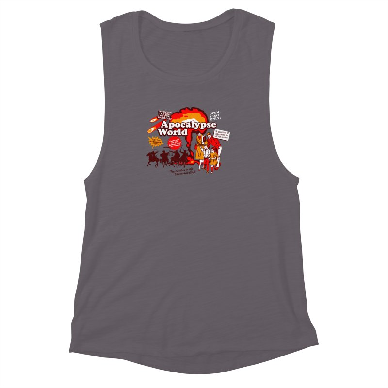 Apocalypse World Women's Muscle Tank by Graham Dobson