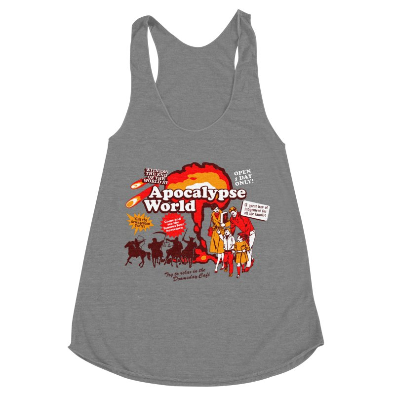 Apocalypse World Women's Racerback Triblend Tank by Graham Dobson