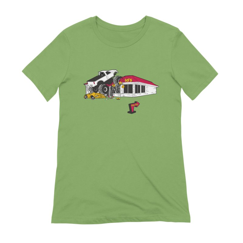 Drive Thru Women's Extra Soft T-Shirt by Graham Dobson