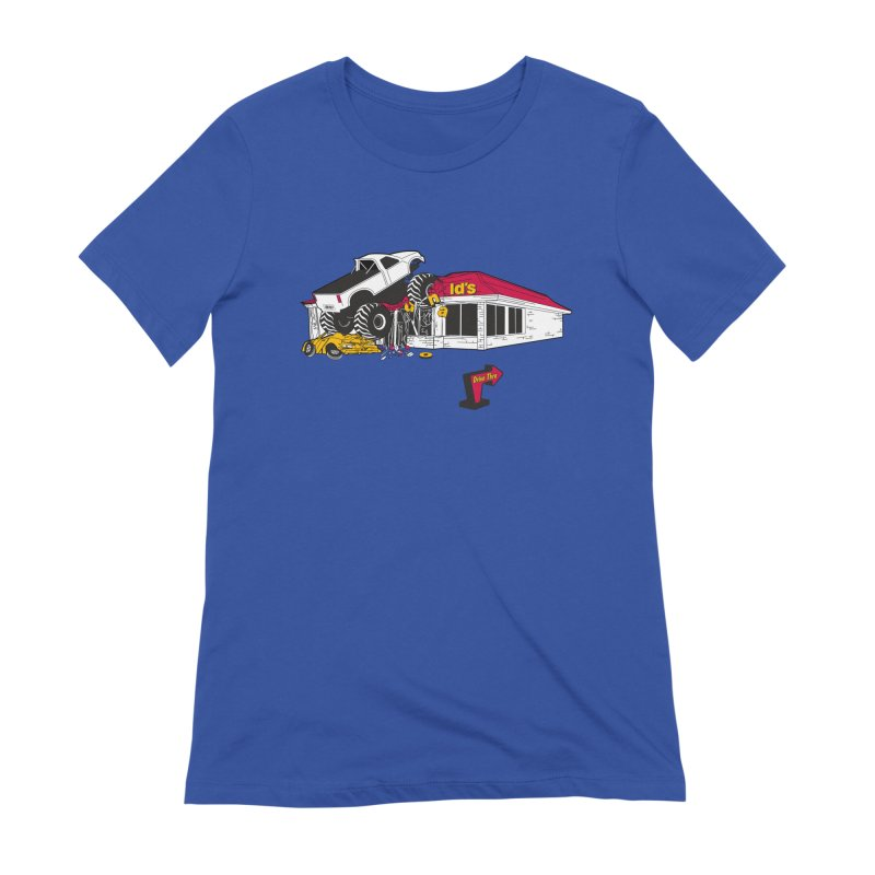 Drive Thru Women's Extra Soft T-Shirt by Graham Dobson