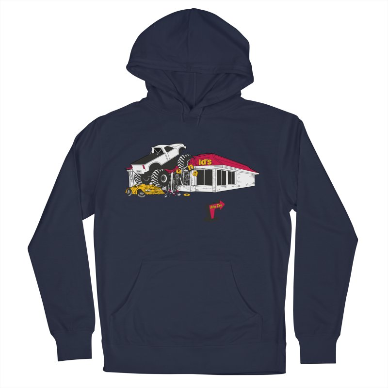 Drive Thru Women's French Terry Pullover Hoody by Graham Dobson