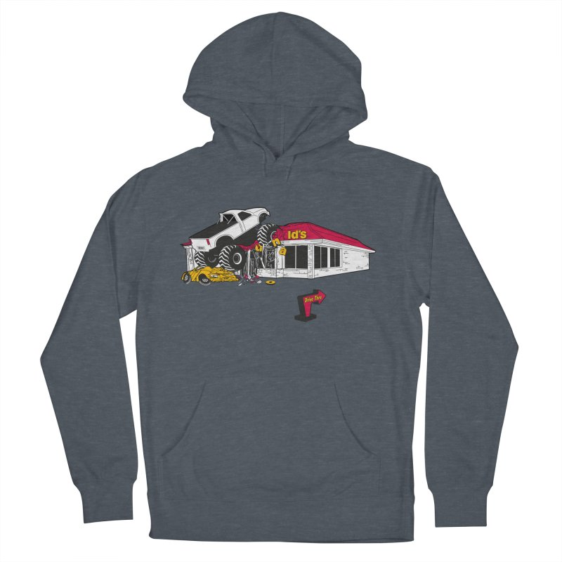 Drive Thru Men's French Terry Pullover Hoody by Graham Dobson