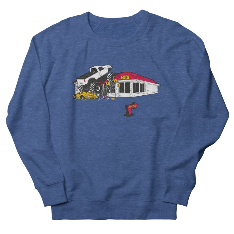 Drive Thru Men's French Terry Sweatshirt by Graham Dobson