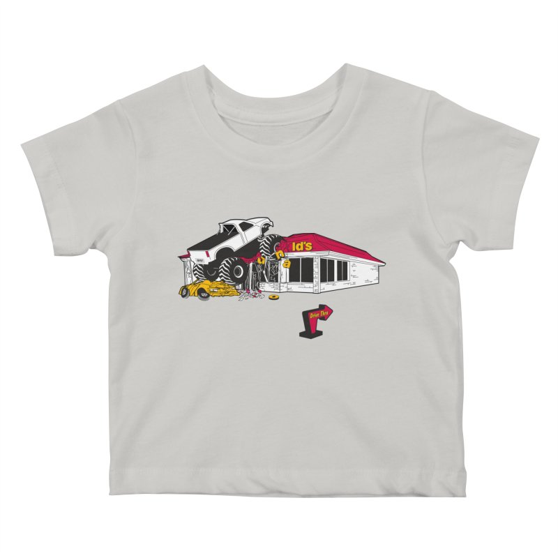 Drive Thru Kids Baby T-Shirt by Graham Dobson