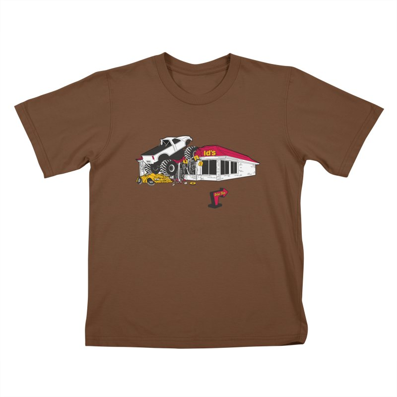 Drive Thru Kids T-Shirt by Graham Dobson