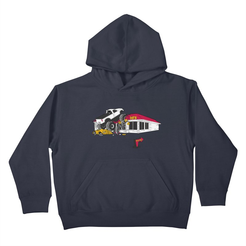 Drive Thru Kids Pullover Hoody by Graham Dobson