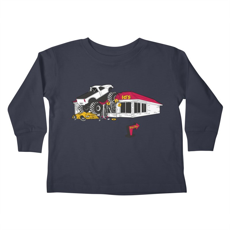 Drive Thru Kids Toddler Longsleeve T-Shirt by Graham Dobson