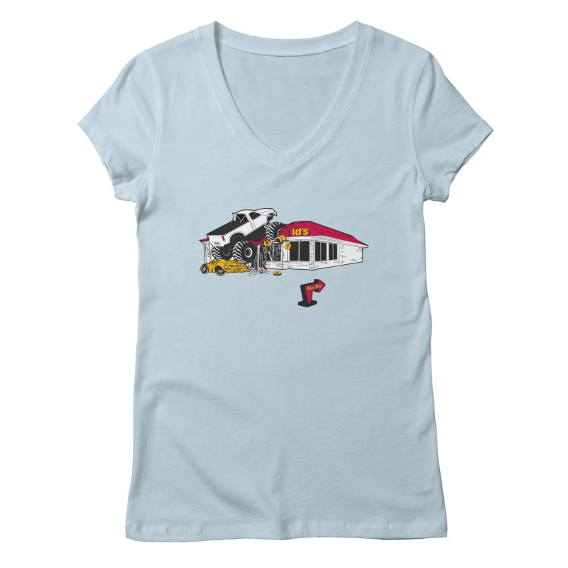 Drive Thru Women's Regular V-Neck by Graham Dobson