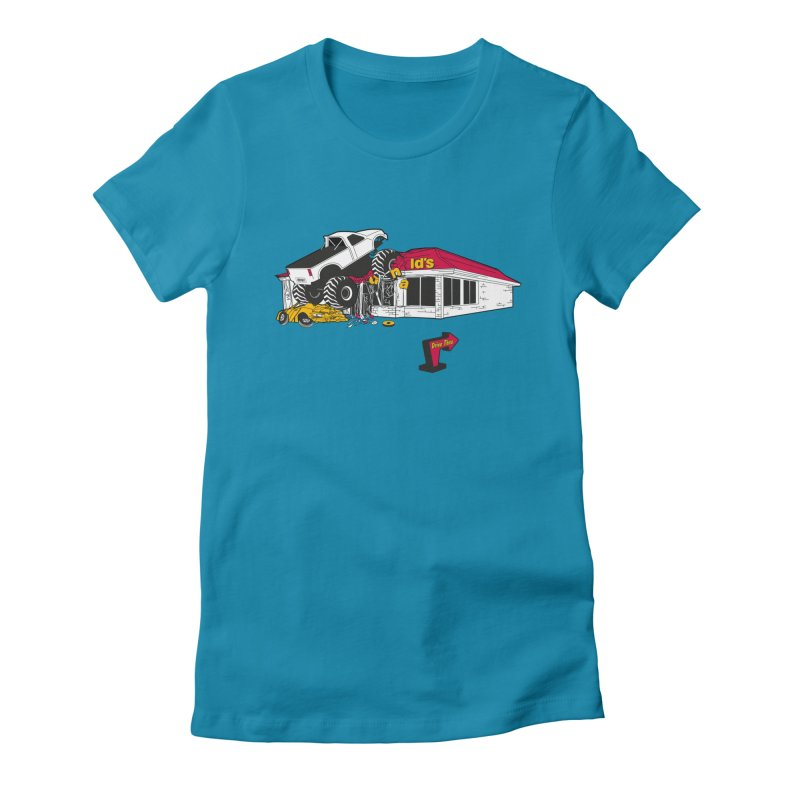 Drive Thru Women's Fitted T-Shirt by Graham Dobson