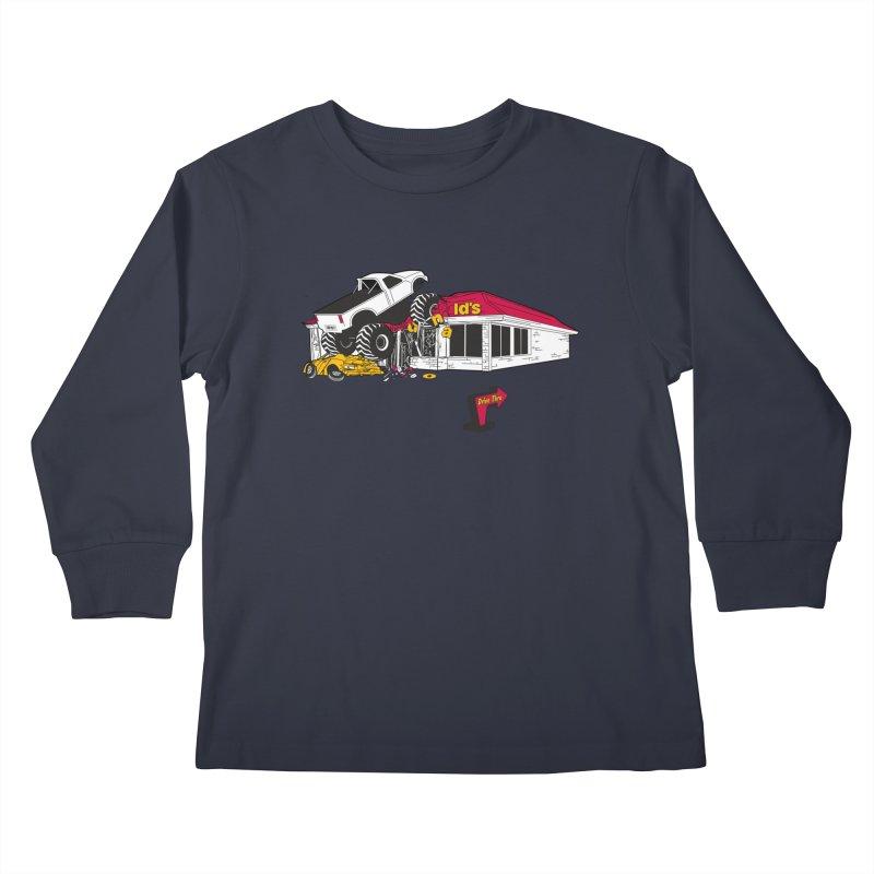 Drive Thru Kids Longsleeve T-Shirt by Graham Dobson