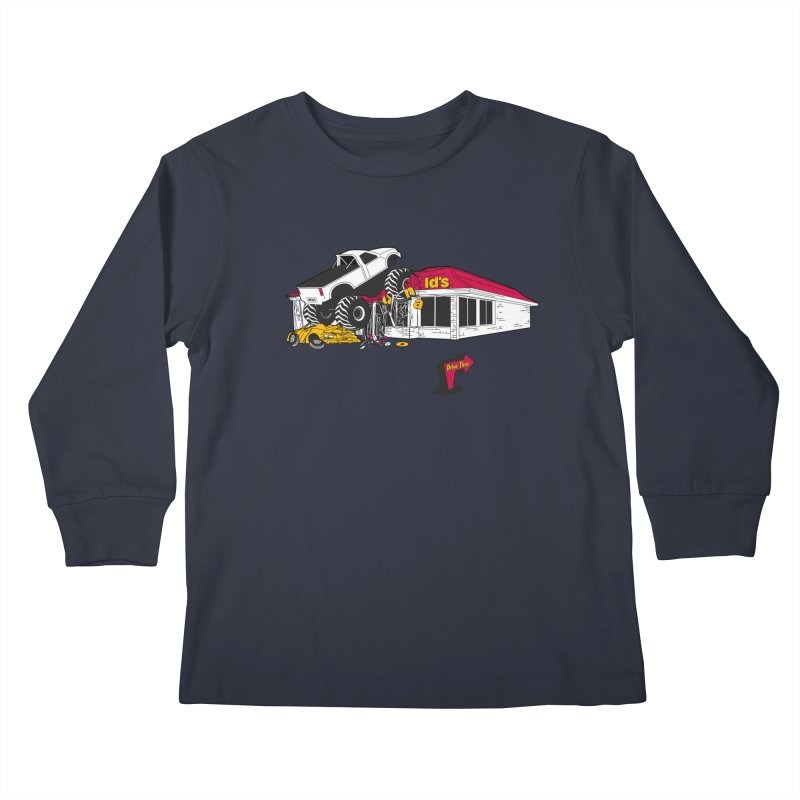 Drive Thru Kids Longsleeve T-Shirt by Graham Dobson