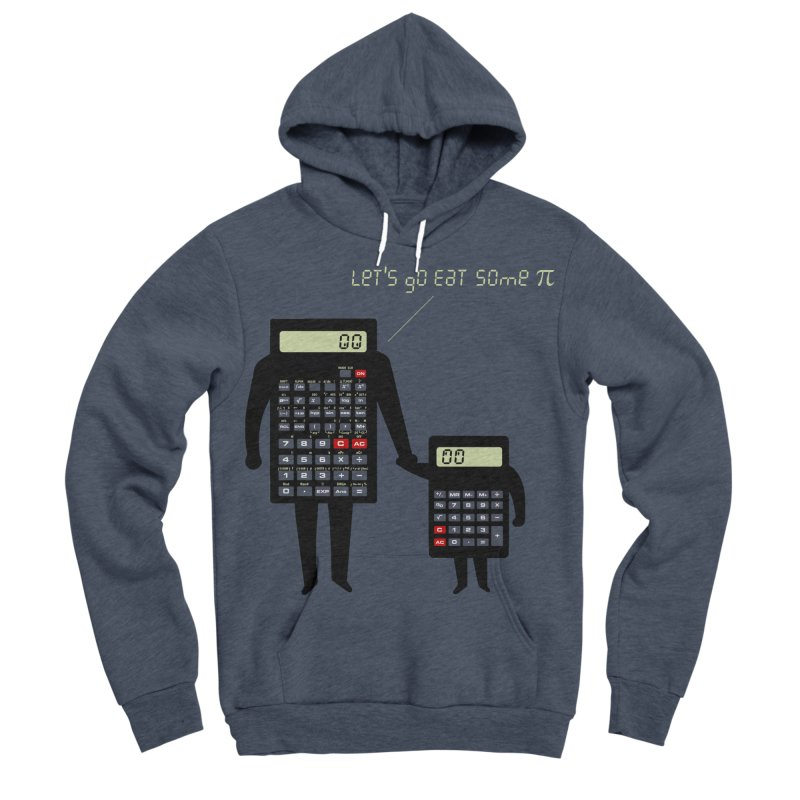Let's go eat some pi Men's Sponge Fleece Pullover Hoody by Graham Dobson
