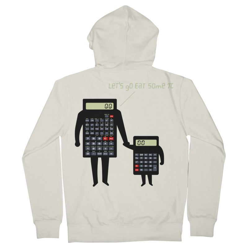 Let's go eat some pi Women's French Terry Zip-Up Hoody by Graham Dobson