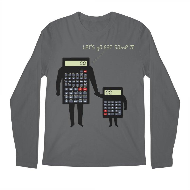 Let's go eat some pi Men's Regular Longsleeve T-Shirt by Graham Dobson