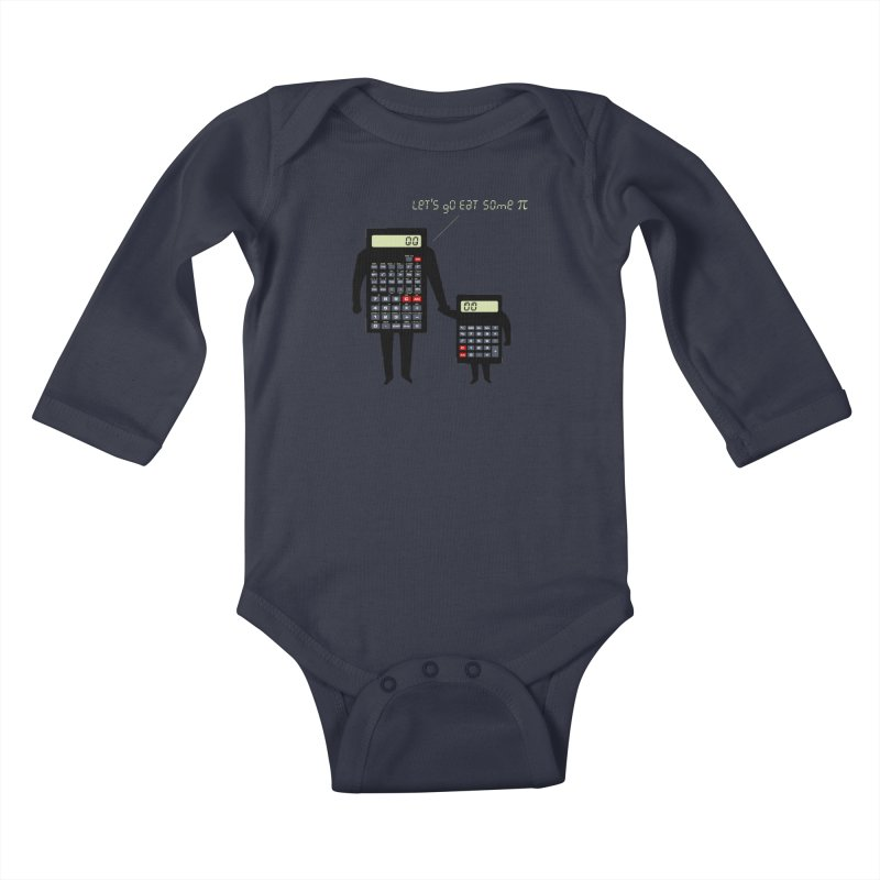 Let's go eat some pi Kids Baby Longsleeve Bodysuit by Graham Dobson