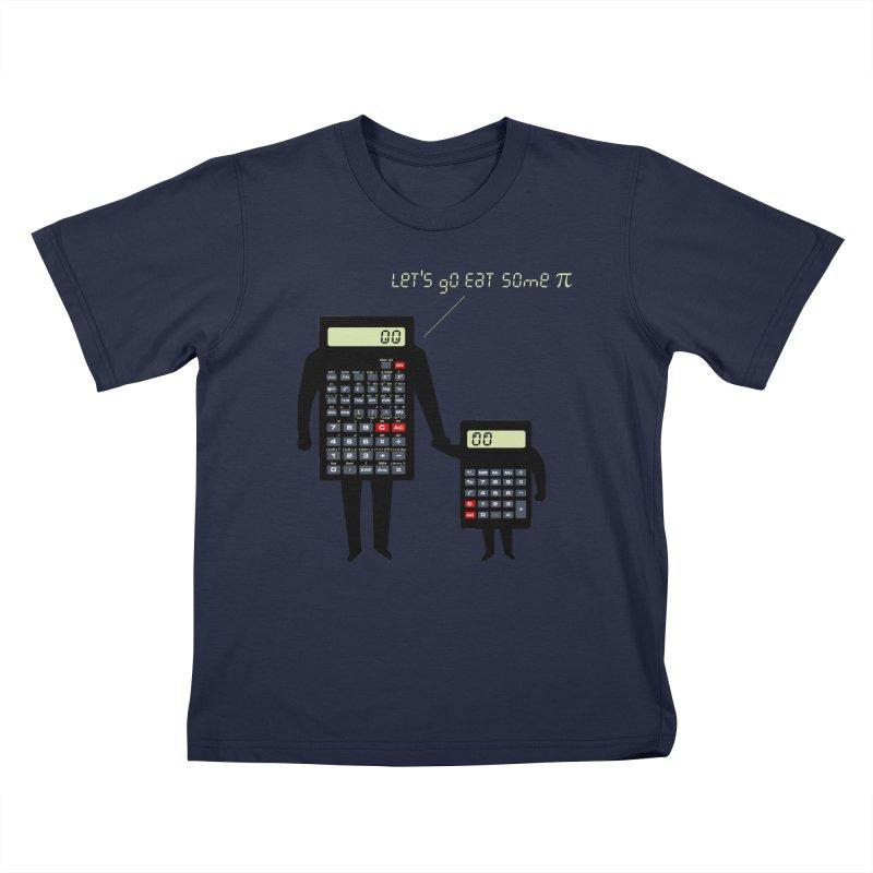 Let's go eat some pi Kids T-Shirt by Graham Dobson
