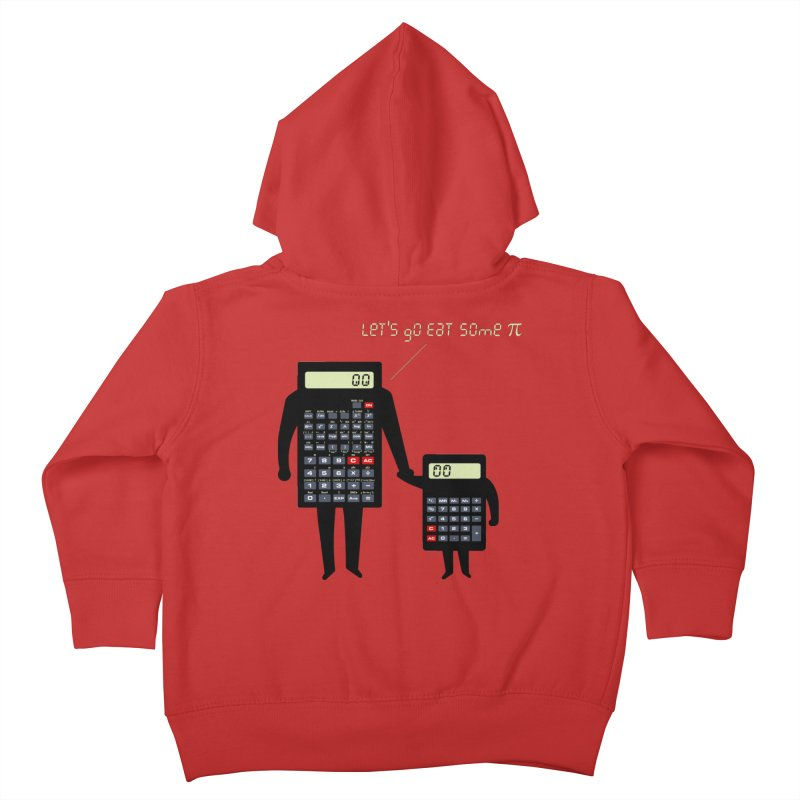 Let's go eat some pi Kids Toddler Zip-Up Hoody by Graham Dobson