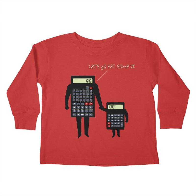 Let's go eat some pi Kids Toddler Longsleeve T-Shirt by Graham Dobson