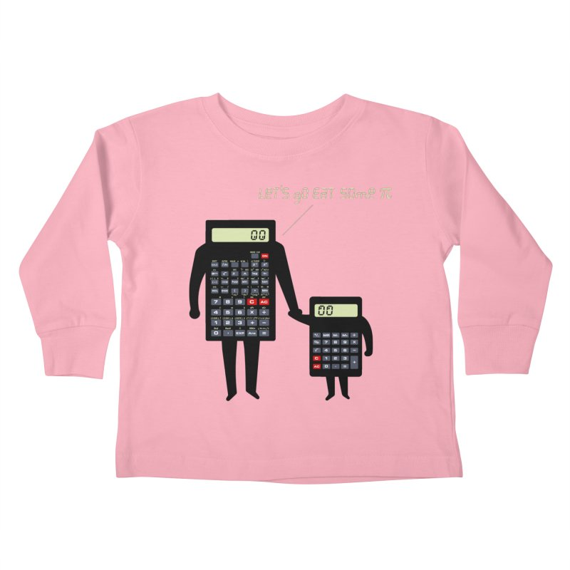 Let's go eat some pi Kids Toddler Longsleeve T-Shirt by Graham Dobson