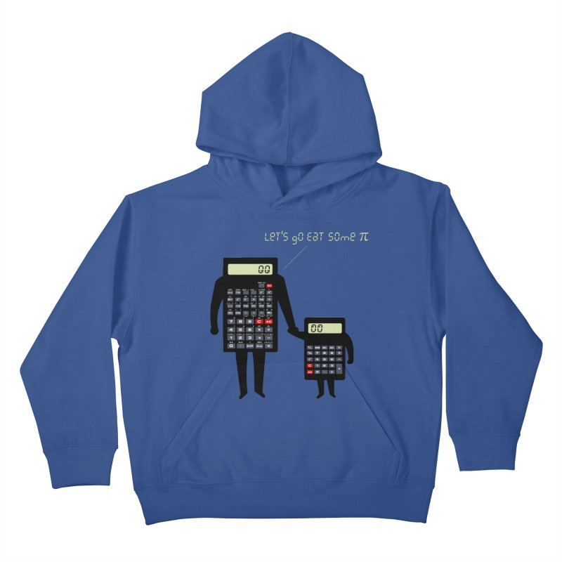 Let's go eat some pi Kids Pullover Hoody by Graham Dobson