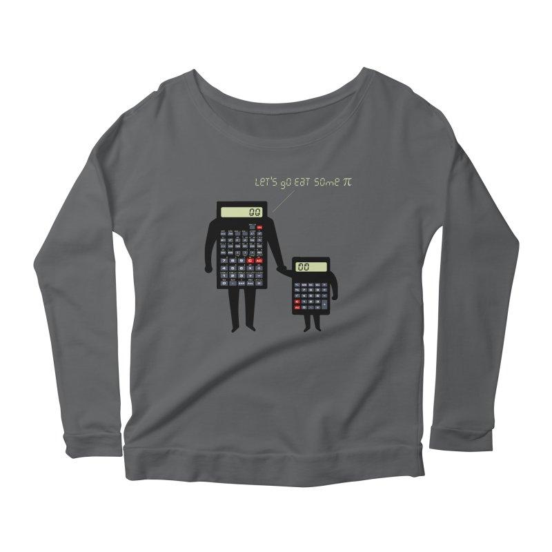 Let's go eat some pi Women's Scoop Neck Longsleeve T-Shirt by Graham Dobson