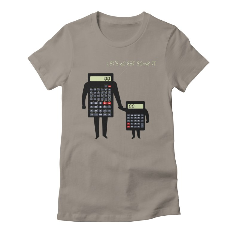Let's go eat some pi Women's Fitted T-Shirt by Graham Dobson