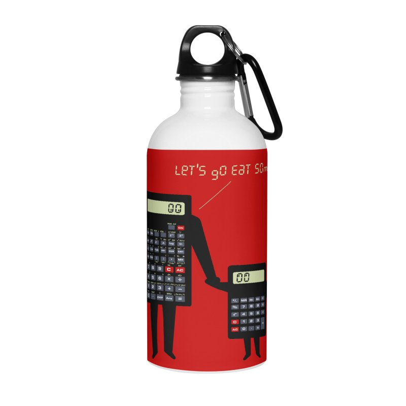 Let's go eat some pi Accessories Water Bottle by Graham Dobson