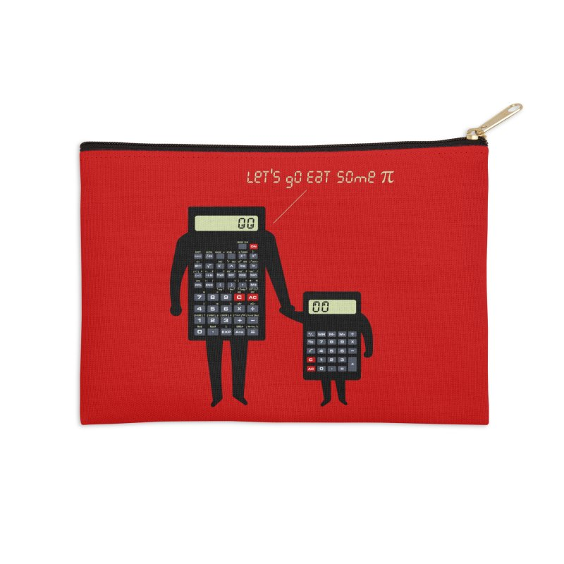 Let's go eat some pi Accessories Zip Pouch by Graham Dobson