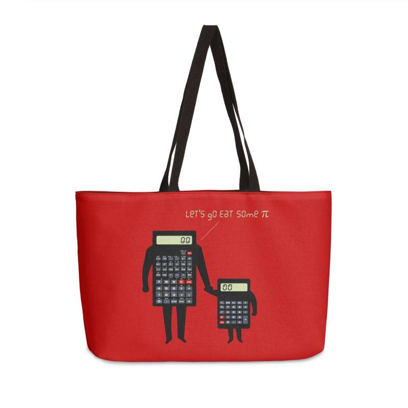 Let's go eat some pi Accessories Weekender Bag Bag by Graham Dobson