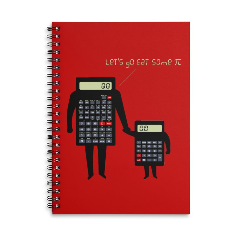 Let's go eat some pi Accessories Lined Spiral Notebook by Graham Dobson