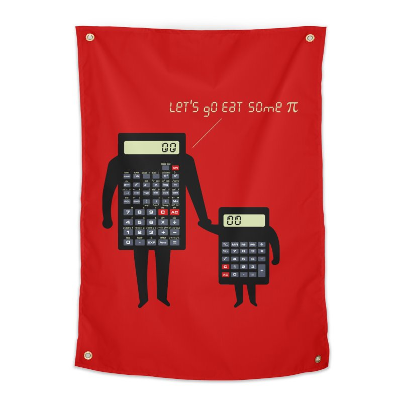 Let's go eat some pi Home Tapestry by Graham Dobson