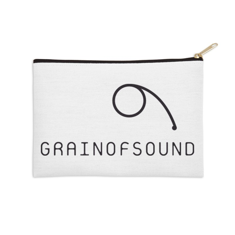 GOS white Accessories Zip Pouch by Grain of Sound Merchandise