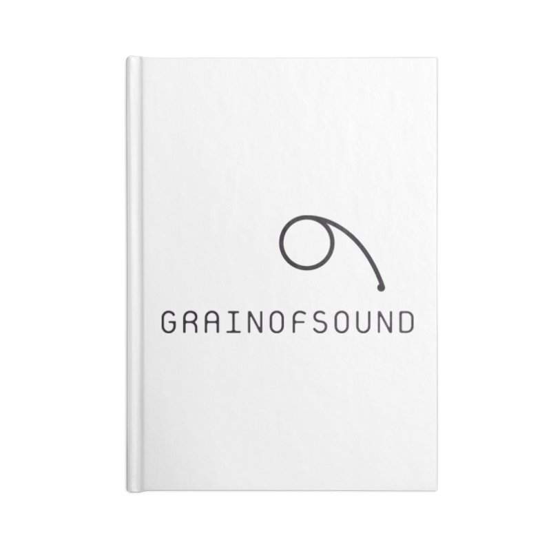GOS white Accessories Blank Journal Notebook by Grain of Sound Merchandise