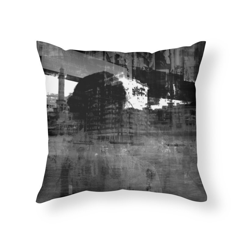 Cinza Home Throw Pillow by Grain of Sound Merchandise