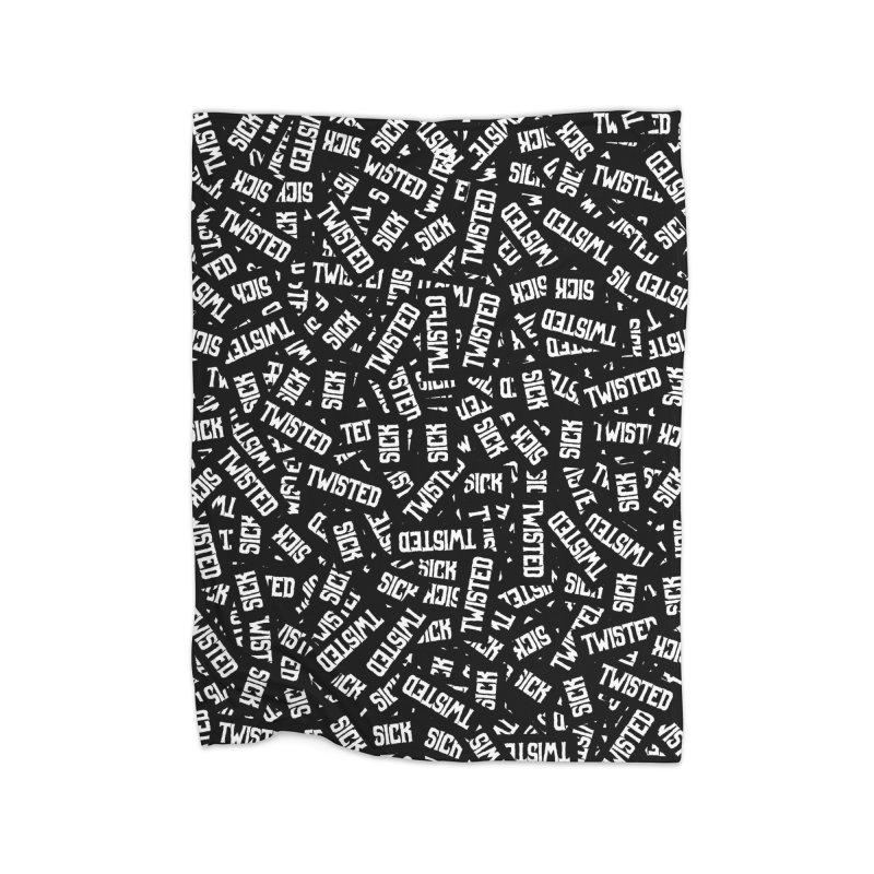 Sick & Twisted Home Fleece Blanket Blanket by Grandio Design Artist Shop