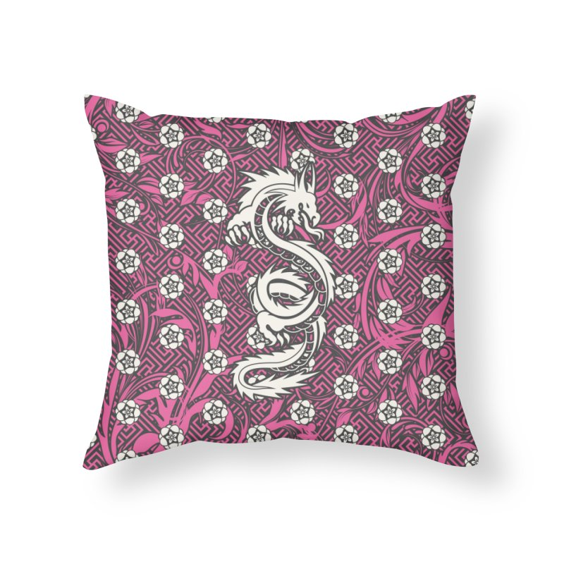 Hidden Dragon II Home Throw Pillow by Grandio Design Artist Shop