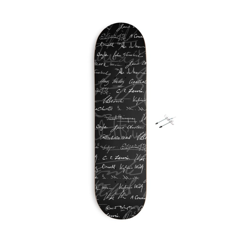 Literary Giants Pattern Accessories With Hanging Hardware Skateboard by Grandio Design Artist Shop