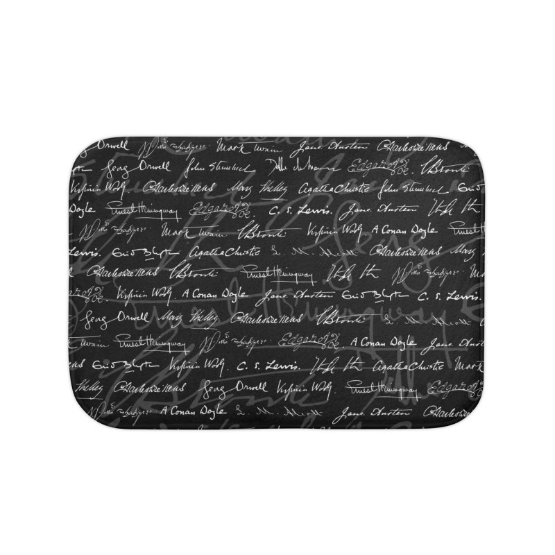 Literary Giants Pattern Home Bath Mat by Grandio Design Artist Shop