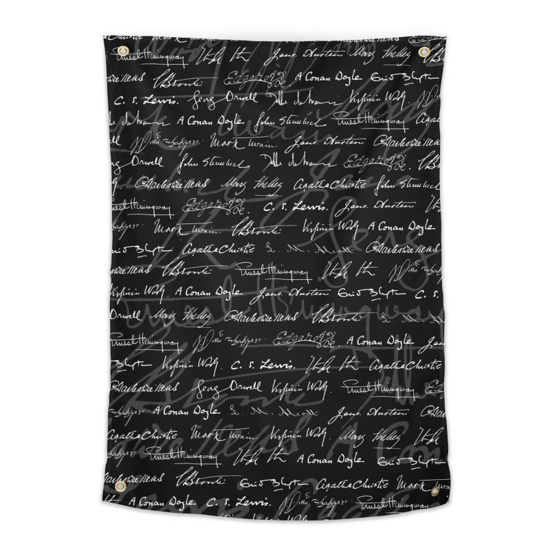 Literary Giants Pattern Home Tapestry by Grandio Design Artist Shop