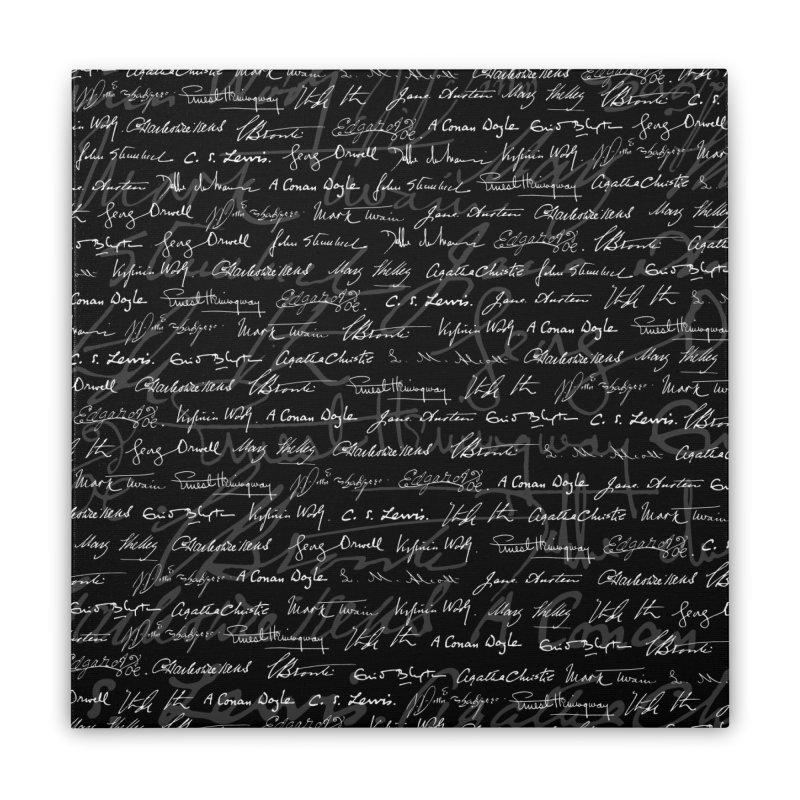 Literary Giants Pattern Home Stretched Canvas by Grandio Design Artist Shop