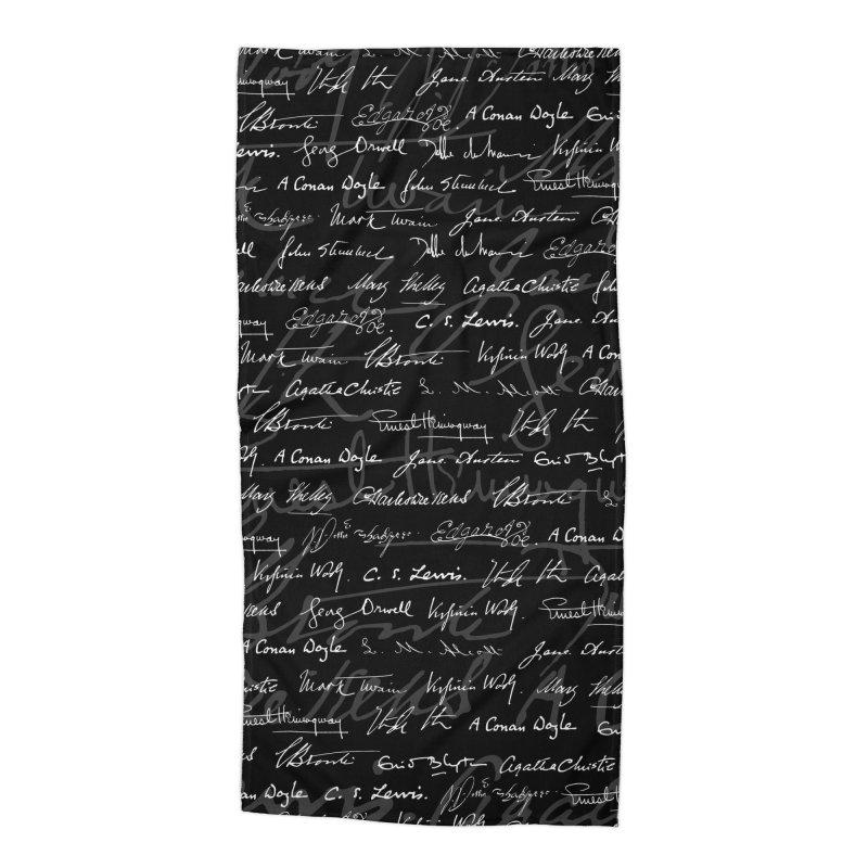 Literary Giants Pattern Accessories Beach Towel by Grandio Design Artist Shop