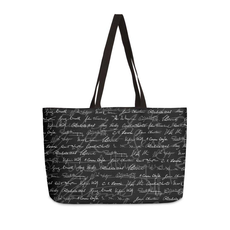 Literary Giants Pattern Accessories Weekender Bag Bag by Grandio Design Artist Shop