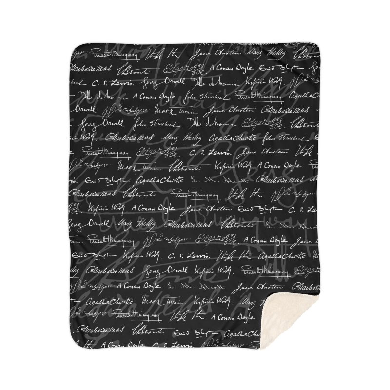 Literary Giants Pattern Home Sherpa Blanket Blanket by Grandio Design Artist Shop