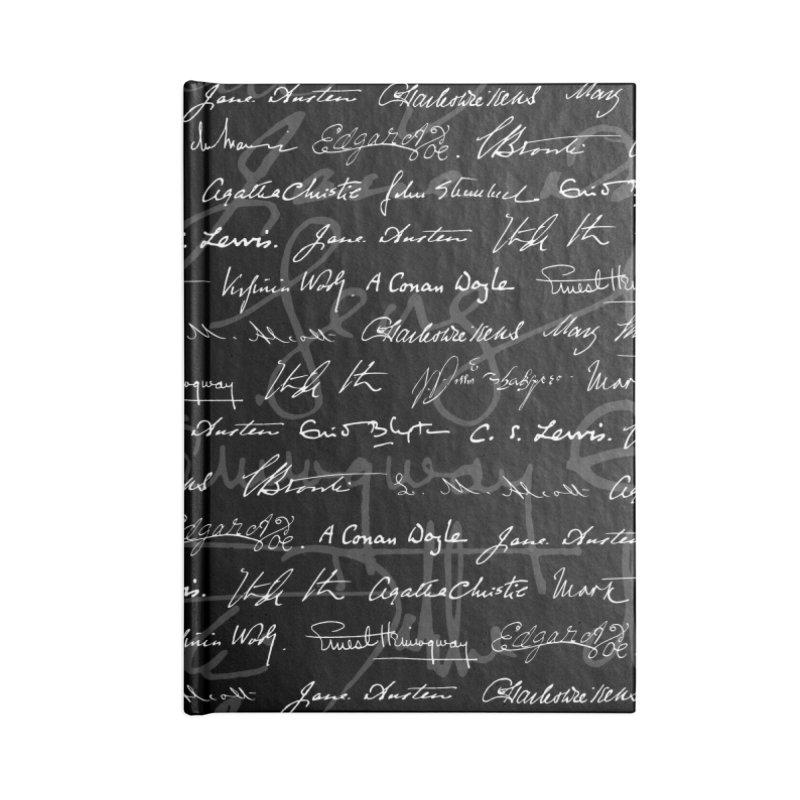 Literary Giants Pattern Accessories Lined Journal Notebook by Grandio Design Artist Shop