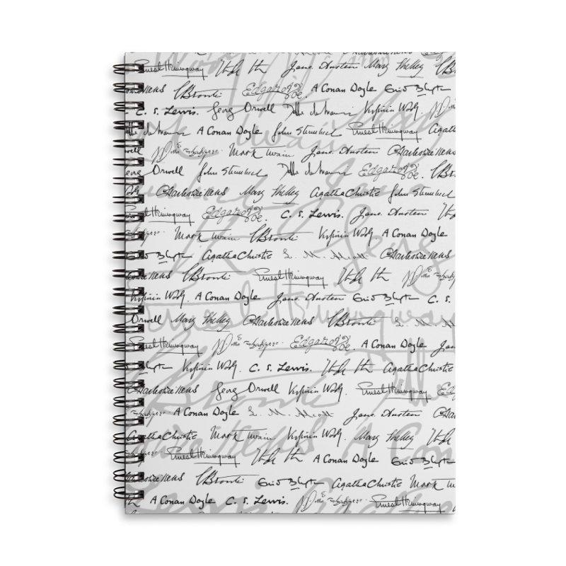 Literary Giants Pattern II Accessories Lined Spiral Notebook by Grandio Design Artist Shop