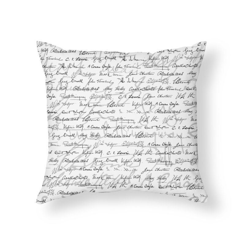 Literary Giants Pattern II Home Throw Pillow by Grandio Design Artist Shop