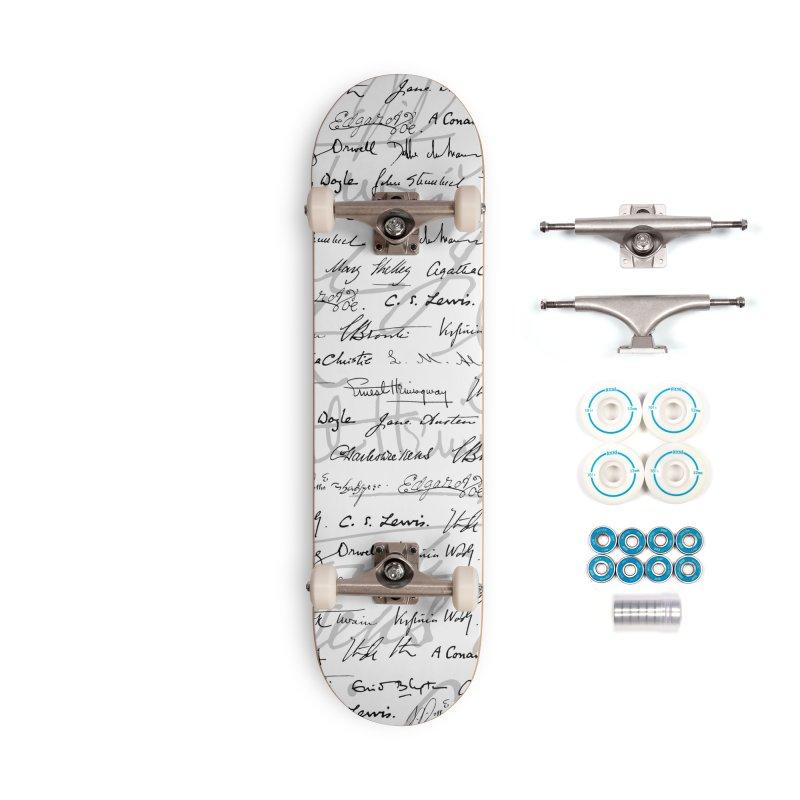 Literary Giants Pattern II Accessories Complete - Basic Skateboard by Grandio Design Artist Shop