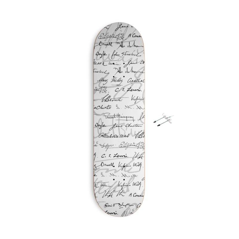 Literary Giants Pattern II Accessories With Hanging Hardware Skateboard by Grandio Design Artist Shop