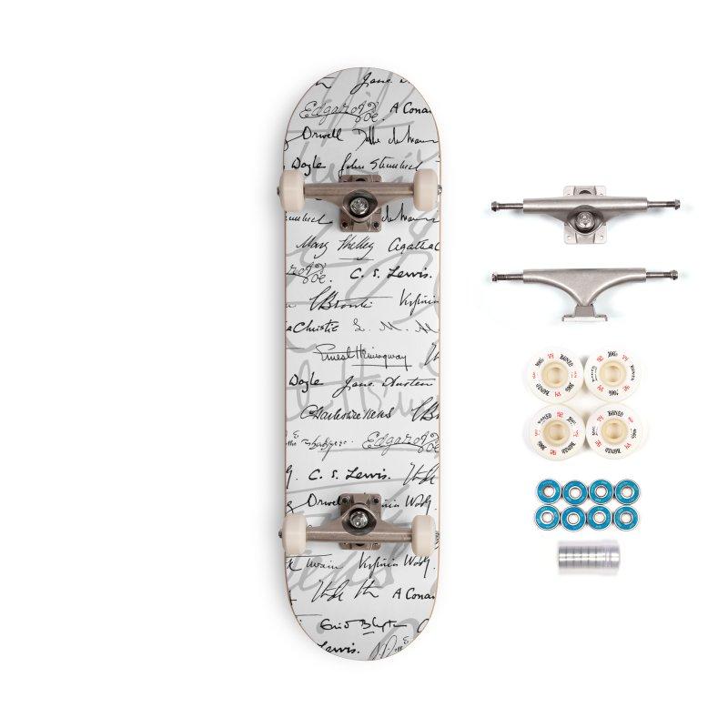 Literary Giants Pattern II Accessories Complete - Premium Skateboard by Grandio Design Artist Shop